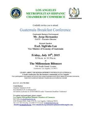LAMHCC GUATEMALA CONFERENCE  JULY 10 2015