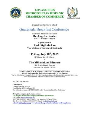LAMHCC GUATEMALA CONFERENCE  JULY 10 2015