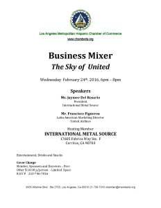 Business Mixer FEB242016